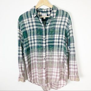 Melrose and Market plaid distressed open back S